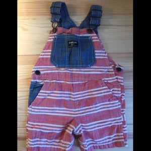 Red, White & Blue Overall Shorts